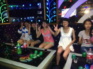 Students take teachers to Karaoke during a weekend, 2014