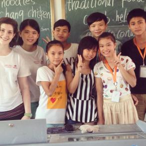 A class of students and their teachers from our 2014 program