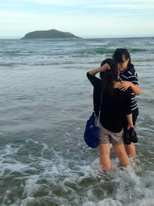 Teachers at the beach for a weekend trip, 2014