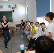 A class in session during Learning Journey in China 2015
