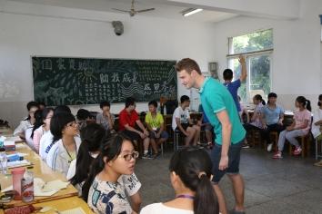 Sam Dalton leading class activities, 2015