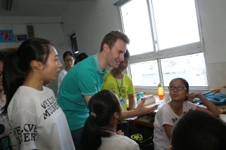 Sam in Class 3 of the first session of Learning Journey in China 2015