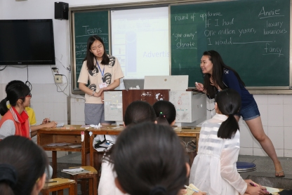 Annie and Yiyi teaching class 4, 2015