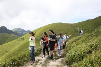 Hiking Wugong Mountain together, 2015